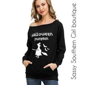 🆕⭐ Black oversized Halloween sweatshirt